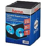 "Hama DVD Doppel Leerh�lle Slim 25, Schwarzvon ""Hama"""