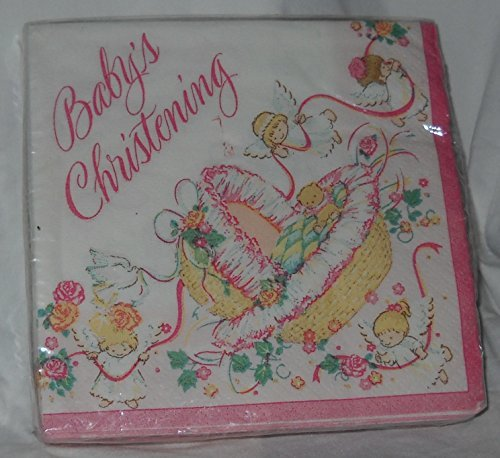 Baby Christening Angels Pink - 1