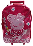 Official Peppa Pig Boys Holdall Travel Holiday Wheeled Trolley School Bag Girls Back To School