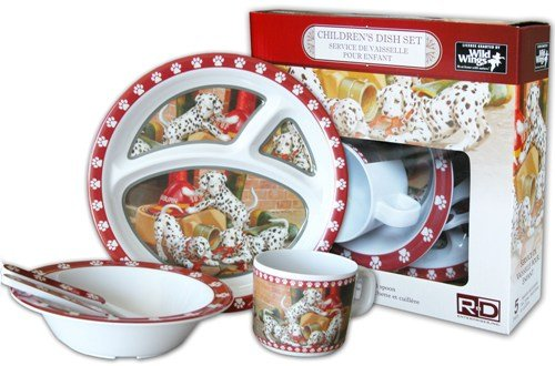 Wild Wings Children's 5-Piece Melamine Tableware Set Featuring Dalmatians (Child Dishes compare prices)
