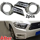 LED Daytime Running Light With Fog Lamp Cover 2P for 2008 2009 2010 Toyota Highlander