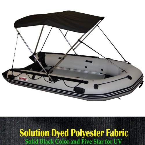 Portable 3 Bow Bimini Top Fit 11 to 13ft Inflatable