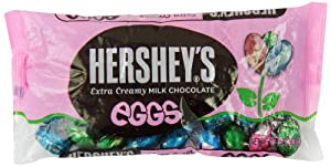 Hershey's Easter Eggs Extra Creamy Milk Chocolate, 10-Ounce Packages (Pack of 4)