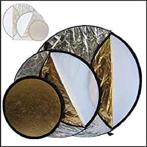 Lot de 5 réflecteurs 110 cm (Or/argent/noir/blanc/transparent)
