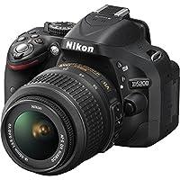 Nikon D5200 Digital SLR Camera (Black) with 18-55mm G VR DX AF-S Lens and 55-200mm VR DX AF-S Lens from Nikon