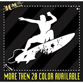 Surfer Surfboard Surf Vinyl Decal Sticker / 10