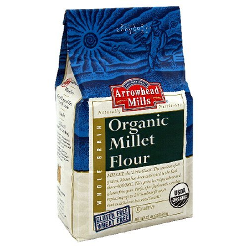 Arrowhead Mills Organic Millet Flour 32 OZ (Pack of 3) by Arrowhead Mills