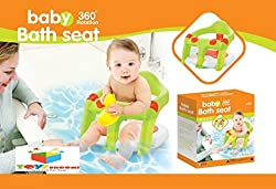 Toys Bhoomi Safe and Secure Non-Slip 360° Rotatable Baby Bath Seat