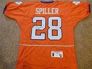 Signed C.J. Spiller Jersey - Orange Gtsm - Autographed College Jerseys by Sports+Memorabilia