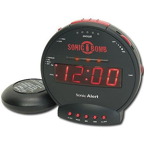 Sonic Alert Sonic Bomb Alarm Clock with Bed Shaker