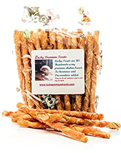 Amazon.com : Chicken Wrapped Rawhide Chews Natural Dog