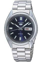 Seiko SNXS77 Automatic Blue Day Date Dial Silver Steel Bracelet Men Watch NEW