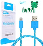 MagicShield 10 Feet Cable USB Charger Sync Cord for for iPhone 6 Plus iPhone6 5 5C 5S iPad Mini iPad Air -Blue