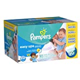 Pampers Easy Ups Boys Trainers Value Pack, 90 Count, Size 5 (3T - 4T)