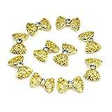 10stk. 3D Glitters Bowknot Nagelsticker Schleife Strass Nagel Art Sticker