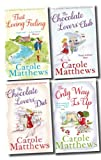 Carole Matthews 4 Books Set Romantic Saga Collection (The Only Way is Up, The Chocolate Lovers' Diet, The Chocolate Lovers' Club, That Loving Feeling) Carole Matthews
