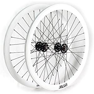 EighthInch Julian V2 Track Fixed Gear Wheelset 32 White Non-Machined
