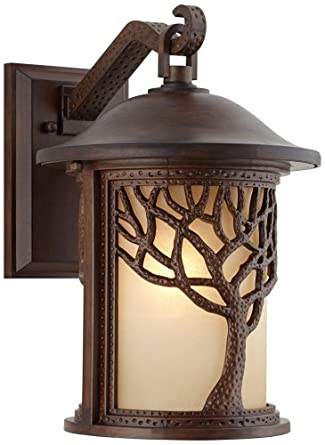 Bronze Mission Style Tree 15 High Outdoor Wall Light Wall Porch Light