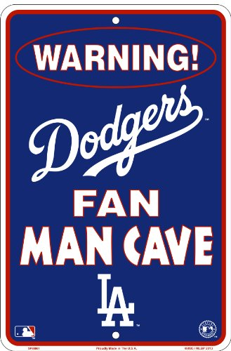 Man Cave Store Michigan City : Los angeles dodgers fan man cave sign
