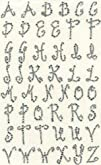 Dritz Iron-On 1 Script Letters  clear rhinestone