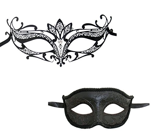 Luxury Mask Men's Couple's Venetian Masquerade Mask Set