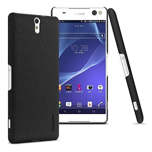 Tarkan Pudini QuickSand Matte Slim Hard PC Back Case Cover For Sony Xperia C5 Ultra Dual (Sandstone Black)