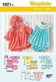 Simplicity Pattern 1921 Babies Dress and Separates Size XXS XS S M L