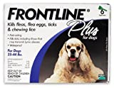 MERIAL T-PET206 Frontline Plus Flea and Tick Control for Dogs and Puppies (6 Pack), 23 to 44 lb