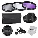 NEEWER® 77mm レンズフィルターアクセサリーキット Canon Nikon Sony Samsung Fujifilm Pentaxなど各社の77mmフィルタ径のDSLRカメラレンズに対応 - フィルターキット (UV, CPL, FLD) + フィルターキャリーポーチ + 花形レンズフード + スナップ式レンズキャップ キャップキーパーリーシュ付 + レンズクリーニングクロス