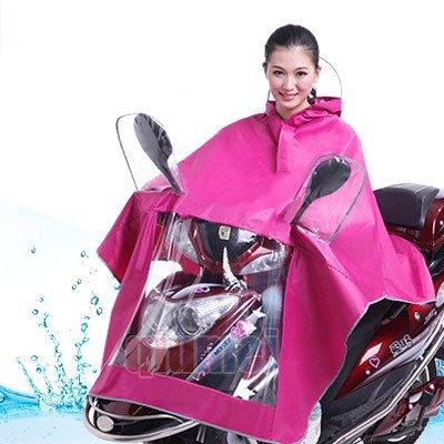 K sera sera レインコート 自転車 原付バイク用 雨具 カッパ ポンチョ レインウェア (ピンク)
