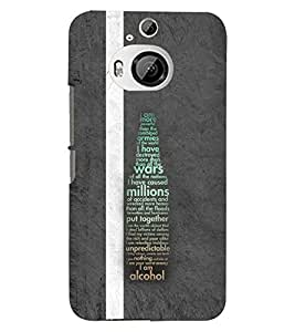 PRINTSWAG TYPOGRAPHY Designer Back Cover Case for HTC ONE M9 PLUS
