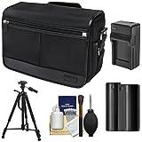 Nikon DSLR Camera Tablet Messenger Shoulder Bag with EN-EL15 Battery & Charger + Tripod + Kit for D7000 - D7100 - D600 - D610 - D800