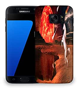 Snoogg White Horse Designer Protective Phone Back Case Cover For Samsung Galaxy S7