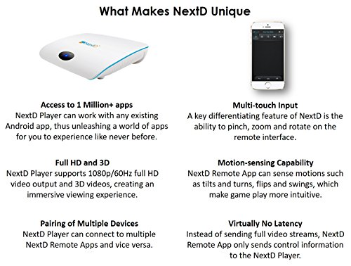 NextD TV: 1 Million Apps & Games on TV, Only Smart TV Player with  Multi-Touch and Motion Control Via Smartphone Remote App, Enabling 100X  More Apps