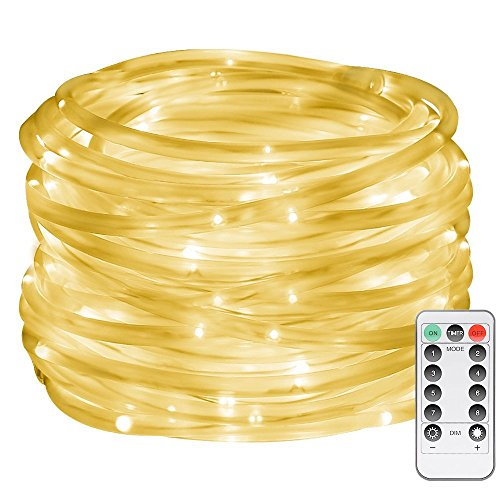 le led dimmable rope lights battery powered 33ft 120 leds import it. Black Bedroom Furniture Sets. Home Design Ideas