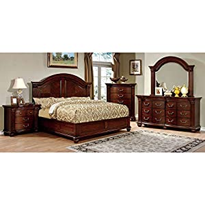 elegant style cherry finish cal king size 6 piece bedroom set kitchen
