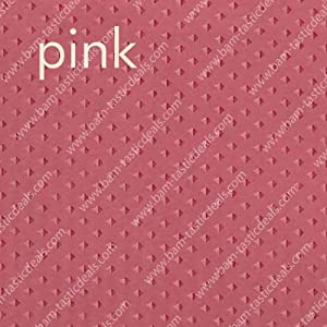 PINK Fabric Double Swag Shower Curtain with Matching Fabric Covered Shower Rings/Hooks and Vinyl Liner