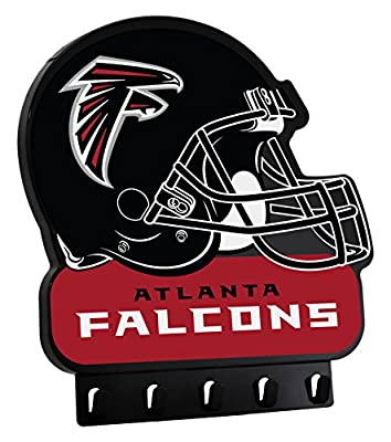 "NFL Atlanta Falcons My Key Rack, 8.5"" x 7.75"", Black"
