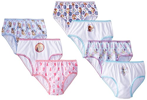 Handcraft Little Girls' Disney Frozen 7 Pack Panty, Assorted, 6