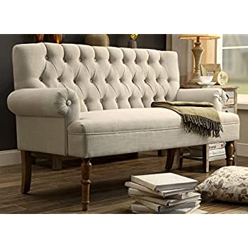 Millbury Home Hermosa Tufted Button Upholstered Loveseat,Beige