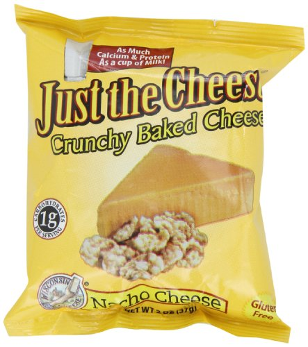 Just the Cheese Rounds, Nacho, 2-Ounce Bags (Pack of 12)