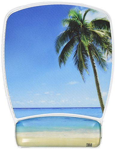 3M Precise Mouse Pad with Gel Wrist Rest, Beach Design (MW308BH) (Gel Wrist Mouse Pad compare prices)