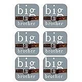 MeSleep Big Brother Wooden Coaster-Set Of 6