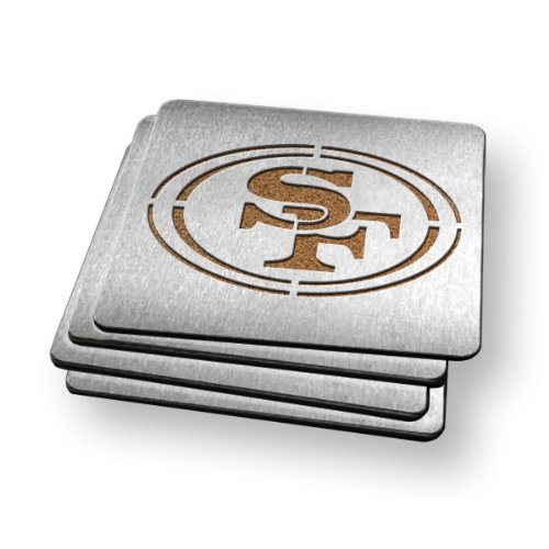 Sportula Products Boasters Stainless Steel Coasters, San Francisco 49Ers at Amazon.com