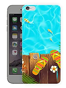 "Humor Gang Travel Beach And Flip Flops Printed Designer Mobile Back Cover For ""Apple Iphone 6 PLUS - 6S PLUS"" (3D, Matte, Premium Quality Snap On Case)"