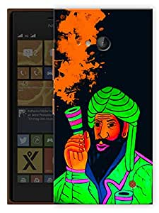 """Humor Gang Smoke Chillum Neon Art Green Trippy Printed Designer Mobile Back Cover For """"Nokia Lumia 730"""" (3D, Matte, Premium Quality Snap On Case)"""