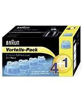 Braun - Lot de 4 + 1 cartouches de nettoyage Clean&Renew (Edition limitée)