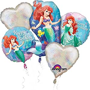 PMU Little Mermaid Birthday Bouquet of Balloons