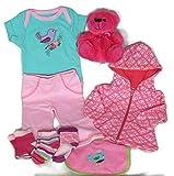 Sunshine Gift Baskets - Little Girl Jogger Newborn Winter Baby Gift Set