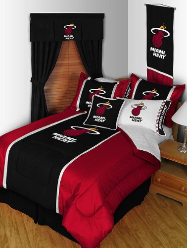 NBA Miami Heat Full Sidelines Comforter and Sheet Set